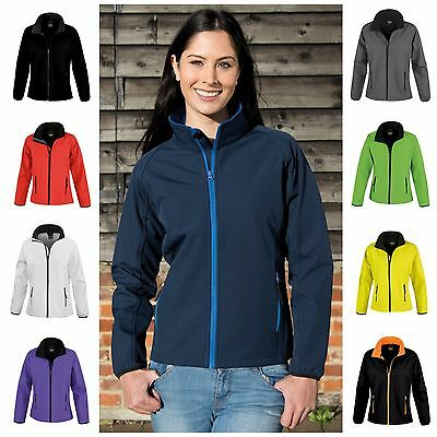 Womens Ladies Softshell Leisure Workwear Coat Jacket Fleece Lined Outdoor 8-18