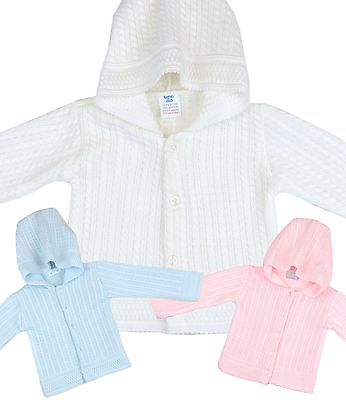 BabyPrem Baby Childrens Clothes Girls Boys Knitted Hooded Cardigan Cardi Sweater