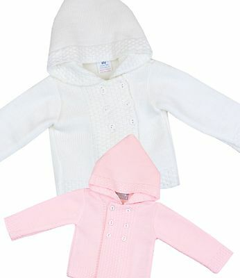 BabyPrem Baby Childrens Clothes Girls Warm Knitted Hooded Cardigan Cardi Sweater