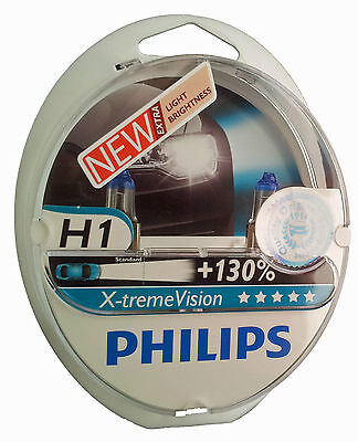 Philips H1 X-treme Vision lampe automobile +130% P14,5s  3700K 12258XV+S2