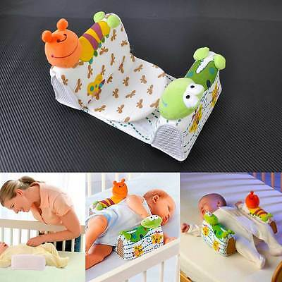 New cottonBaby Infant Newborn Sleep positioner Anti Roll Pillow With Sheet Cover