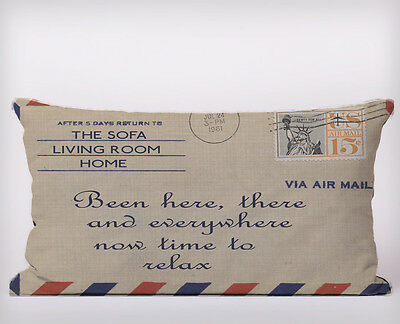 airmail return to sofa Long Cushion Covers Pillow Cases Home Decor or Inner