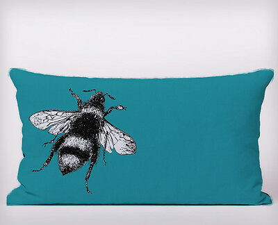 Bee Blue Long Cushion Covers Pillow Cases Home Decor or Inner