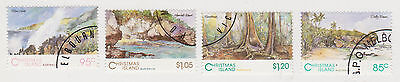 (CIA-39) 1985 Christmas Island 4set scenic views