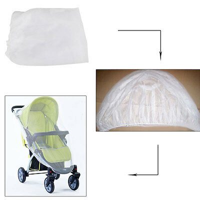 Baby Pram Stroller Bassinet Insect Bug Netting Net Mosquito Fly Cover Universal