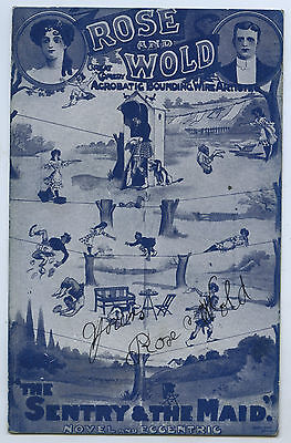 C1905 Pt Npu Ub Adv Postcard Signed By Rose & Wold Acrobats Y38