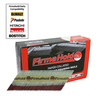 FirmaHold Galvanised Framing Nails 50mm 63mm 75mm 90mm 1100pc Fits Paslode IM350