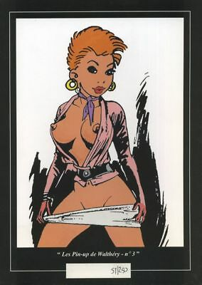 Ex-libris Offset Pin-Up Les Pin-up de Walthéry : n°3 Noir Dessin Productions