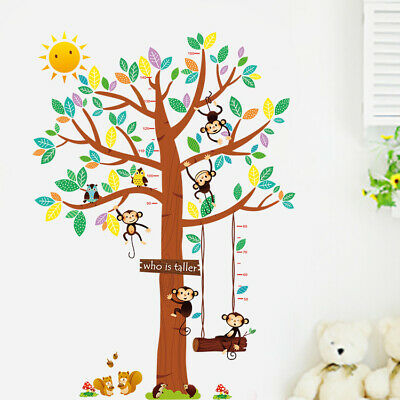 wandtattoo xxl wandsticker aufkleber tiere wald sticker affe baby baum kind baum eur 17 99. Black Bedroom Furniture Sets. Home Design Ideas