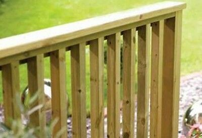 20 x Round Four Edges Arris R4A Green Treated Decking Spindles 41 x 895mm