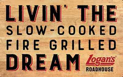 $10 / $25 / $50 Logan's Roadhouse Physical Gift Card - 1st Class Mail Delivery