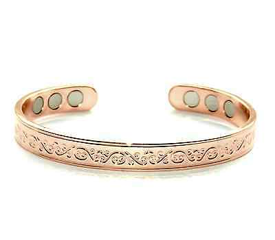 Copper Bracelet Arthritis  Bio Pain Relief Pattern Magnetic Bangle Unisex
