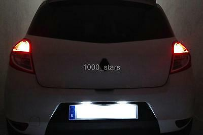LEDPremium 2x LED NUMBER PLATE LIGHTS RENAULT CLIO 3 III CANBUS