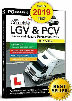 Hgv Lgv Pcv  Dvsa Theory Test And Hazard Perception Test, Pc Dvd Cd. 2017