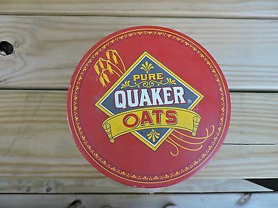 """Vintage 1983~Quaker Oats~Limited Edition~Round Tin~7"""" across x 4.25"""" height"""