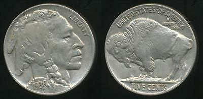 United States, 1936 5 Cents, Buffalo Nickel - Uncirculated