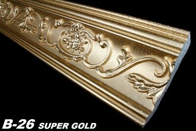 40 Meter Leisten Decke Dekor Stuck Eckprofile 53x88mm, B-26 SUPER GOLD