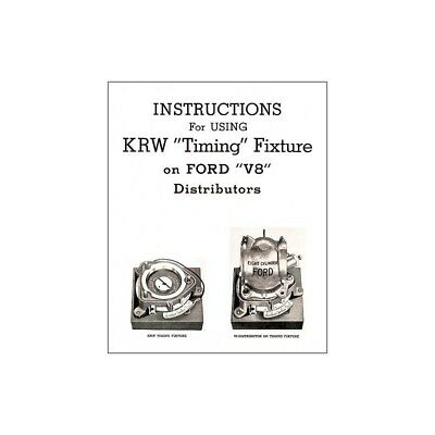 K. R. Wilson Timing Fixture Instructions - 4 Pages 32-66848-1