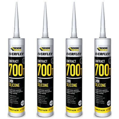 4 x Everbuild 700T LMN Low Modulus Neutral Cure Silicone