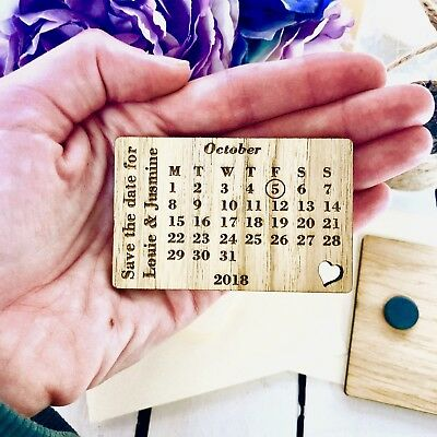 Personalised Save The Date Personalised Magnets Wood Wedding Fridge Magnets
