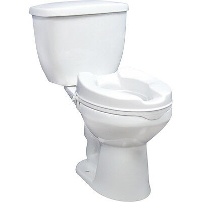 Raised Toilet Seat with Lock and Lid - Without Lid 2 Inches