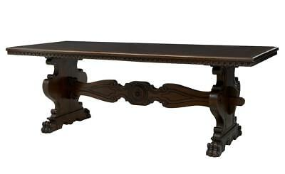 20Th Century Carved Oak Spanish Influenced Refectory Dining Table