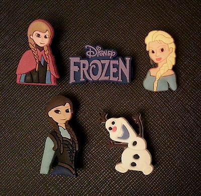 5 Frozen Elsa Anna Olaf Shoe Charms For Crocs And Jibbitz Wristbands
