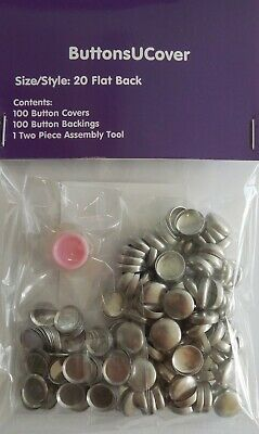 "100 Size 20 (1/2"") Self Cover Buttons - free US shipping"