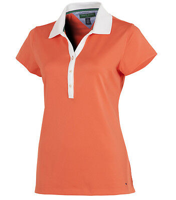Genuine Tommy Hilfiger Ladies Meryl Golf Polo Hot Coral Medium UK 12-14 TW105