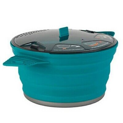 Sea to Summit X-Pot Portable Camping Cooking 2.8L Collapsible Lightweight - BLUE