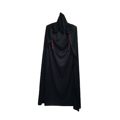Black Halloween Unisex Vampire Witch Cape 150cm Hooded Costume Cape-AU STOCK