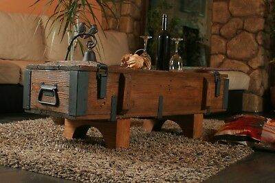 Rustic Coffe Table Wood Pine Chest Trunk Blanket Box Vintage  Cottage