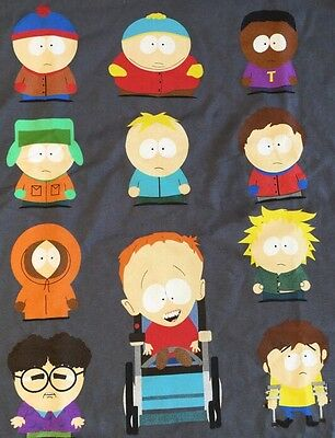 South Park T Shirt The Cast Gray 3XL 4XL NEW WITH TAGS NWT