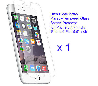 For iPhone 6/6 plus/6s/ 6s Plus Ultra Clear//Tempered Glass screen protector