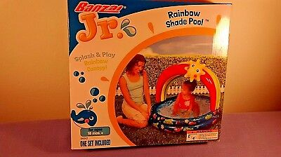 "Banzai Jr. Child's 38"" Splash & Play Rainbow Shade Canopy Pool 18Mos.+"