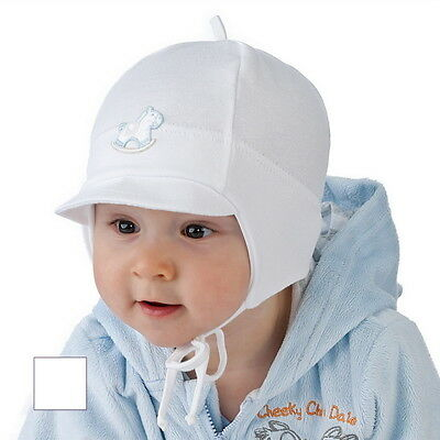 New Baby Boy Hat Boys Spring Autumn Peak Cap Christening Baptism Hat 0 -12 mths