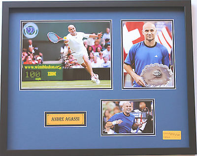 New Andre Agassi Signed Limited Edition Memorabilia Framed