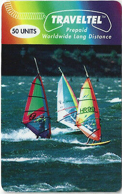 TK Telefonkarte/Phonecard Traveltel 50u Windsurfer Sailboats Racing