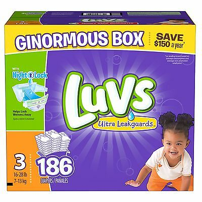 Luvs Ultra Leakguard Diapers Size 3 - 186 Count  Best Price and Free Shipping!