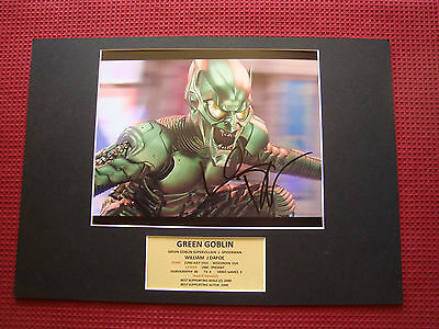 Green Goblin - William Dafoe Genuine Hand Signed A3 Mounted Photo Display - Coa