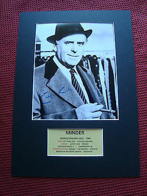 George Cole *arthur Daley* Minder -The Sweeney Signed A3 Photo Mount Display-Coa