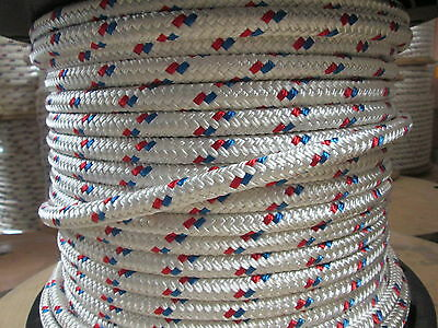 ANCHOR LINE DOCK LINE 9/16 x 50' DOUBLE BRAID POLYESTER ROPE MADE IN USA