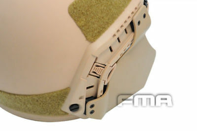 Airsoft Paintball Tactical MICH Ear Protection Cover Fast Helmet Side Rail DE