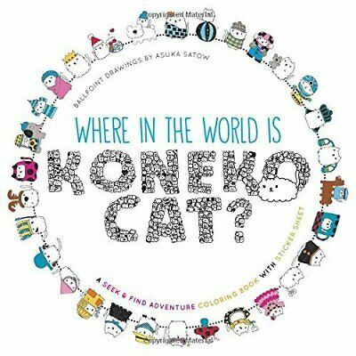 Where in the World Is Koneko Cat? Colouring Book by Asuka Satow