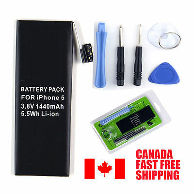 New 1440mAh Internal Replacement 3.8V Li-ion Battery For iPhone 5 5G GSM &Tools