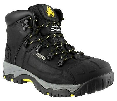 AMBLERS FS32 S3 black waterproof safety boot with midsole & scuff-cap size 3-15