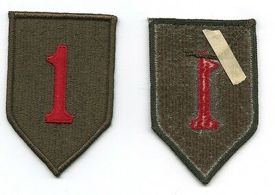 "1st Infantry Division embroidered patch US Army ""The Big Red 1"""