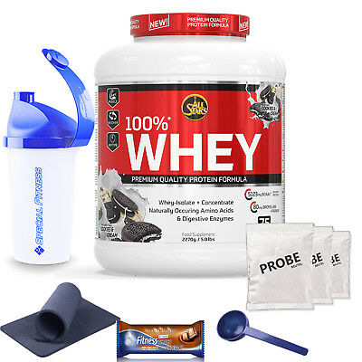 19,14€/kg All Stars 100%* Whey Protein Eiweiß Made in Germany 2350g Dose + BONUS