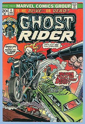VINTAGE - MARVEL COMICS GROUP - GHOST RIDER - Vol. 1, No. 4 - FEBRUARY 1974