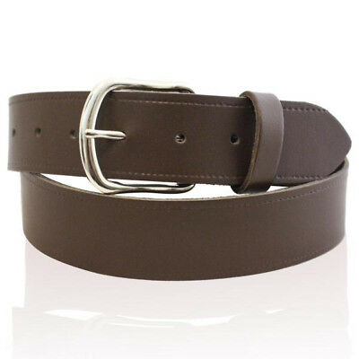 """Mens Real Leather Belts Made In England Black Brown Belt 3 Widths Sizes 26""""-55"""""""